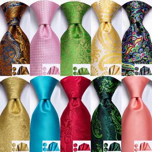 Factory-Direct-Mens-Tie-Silk-Necktie-Set-Black-Red-Gold-Blue-Geometric-Striped