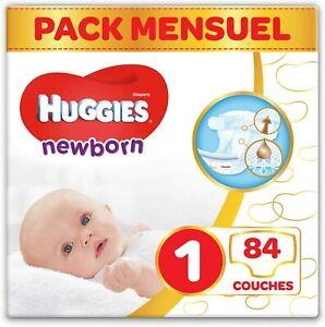 Couches-bebe-Taille-1-2-5-kg-84-couches-Nouveau-nes-Unisexe-Pack-1-mois