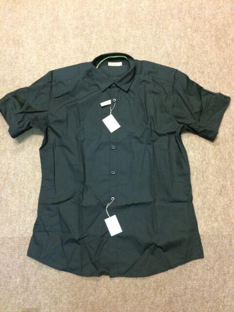 "Remus Uomo Short Sleeve Shirt/Black - 17"""