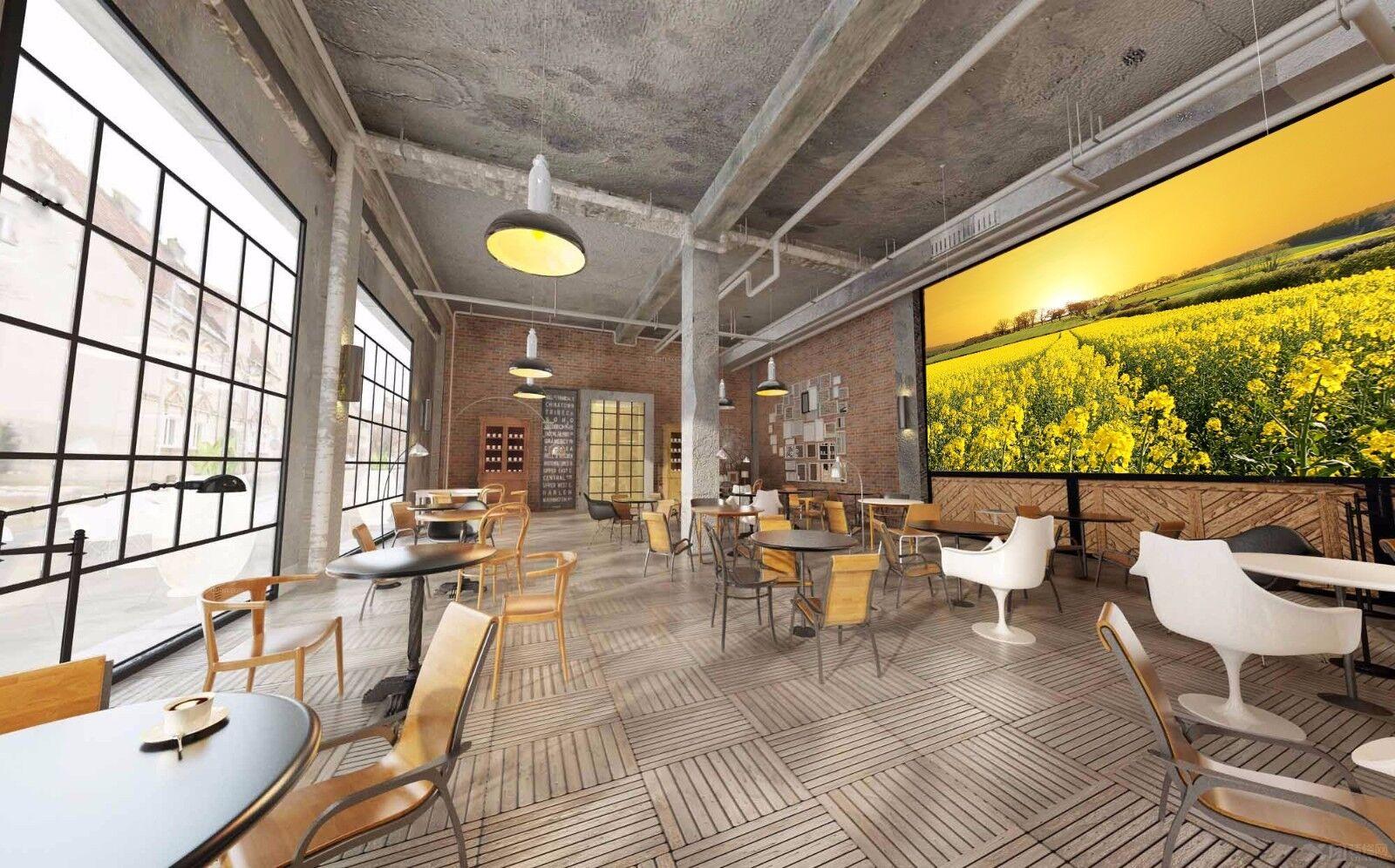 3D Rape Field 428 Wallpaper Murals Wall Print Wallpaper Mural AJ WALL AU Lemon