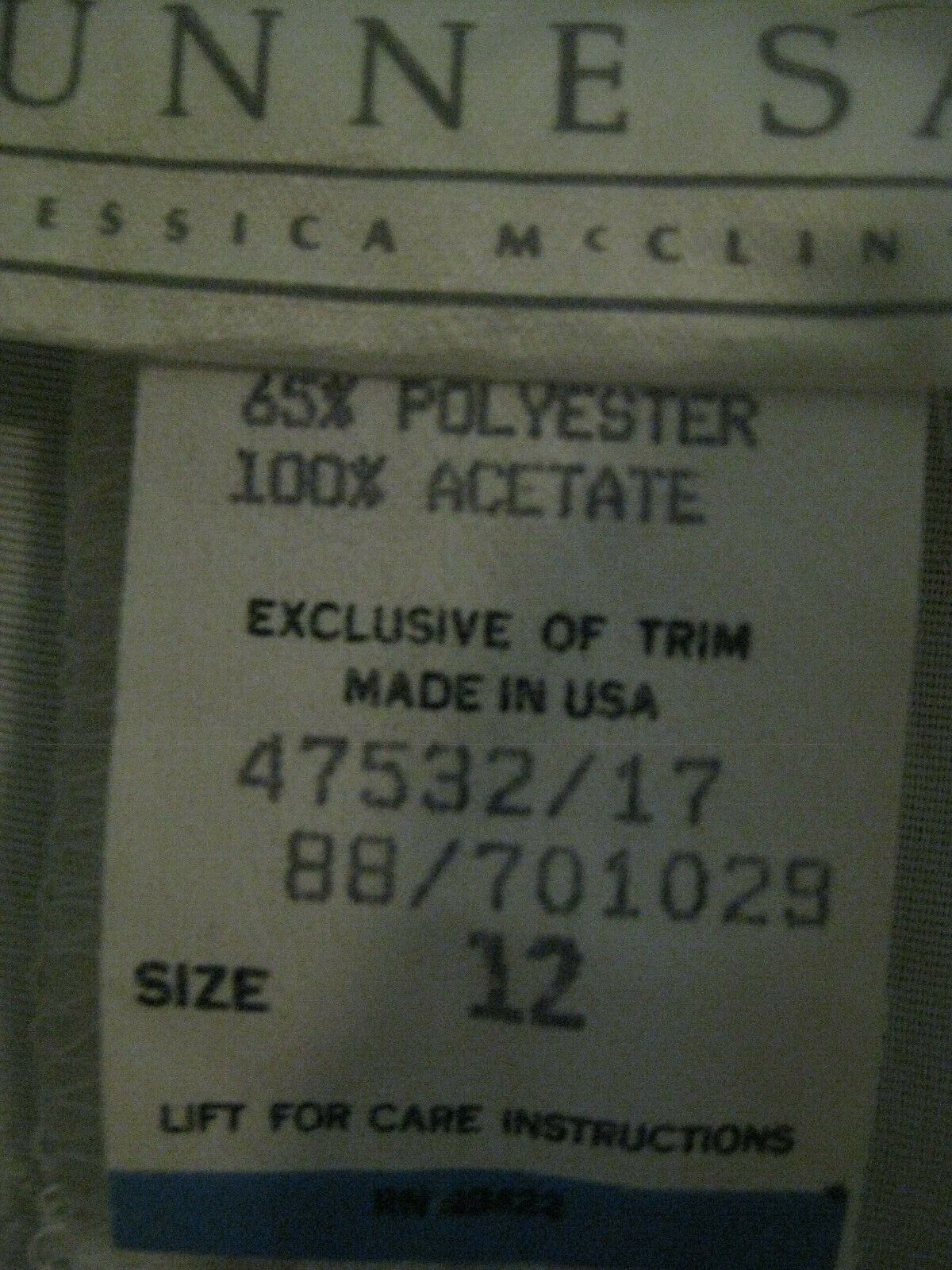 Gunne Sax White Dress Girls Size 12 Pre-Owned - image 12