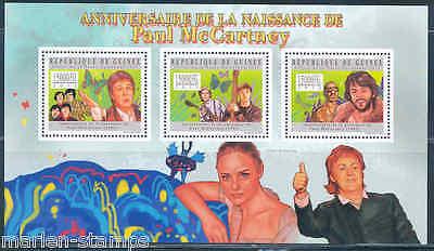 GUINEA  2012  PAUL McCARTNEY & THE BEATLES  SHEET  MINT NH