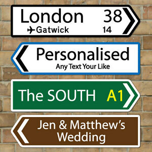 Image Is Loading Personalised Mini Direction Road Sign UK Street