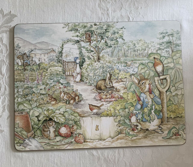 Pottery Barn Kids Cork Mat Placemats Beatrix Potter Peter