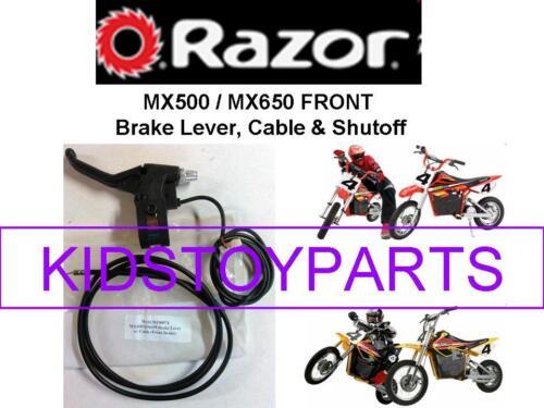 RAZOR SCOOTER DIRT ROCKET MX500 SX500 MX650 FRONT BRAKE HANDLE CABLE /& SHUTOFF