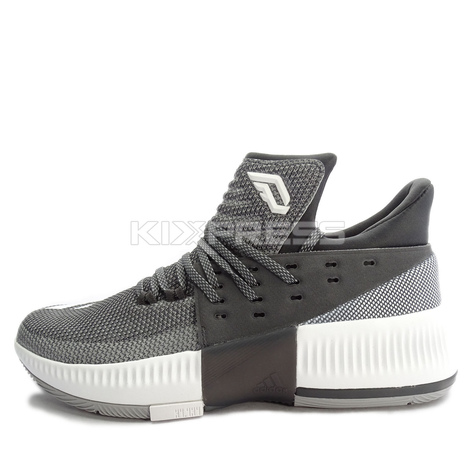 newest 25ca8 d8171 Adidas D Lillard 3 3 3  BY3207  Men Basketball Shoes Damian Black Grey