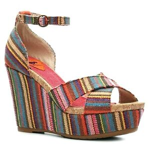 Rocket-Dog-CLARA-Sandalleten-Pumps-36-37-38-39-40-Keilabsatz-Wedge-Plateau-Boho
