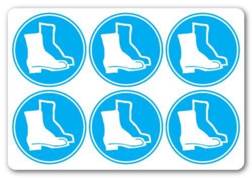 Protección de pie se debe advertir de salud y seguridad signos pub 6No 50x50mm