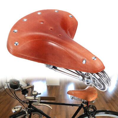 Vintage Classic Comfort Leather Cruiser Bike Bicycle Bike Cycling Saddle Seat