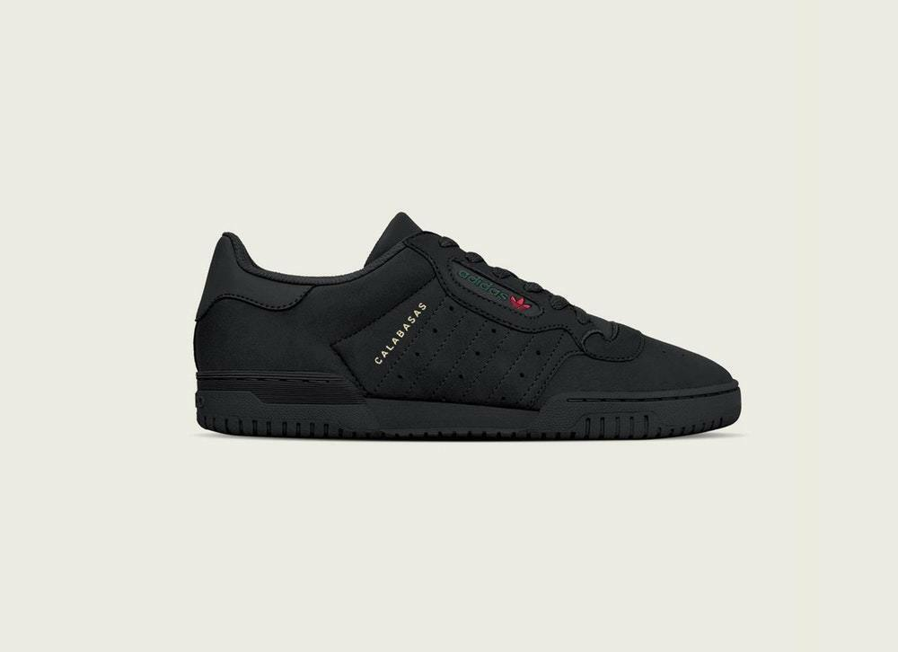 Adidas Yeezy Powerphase Core Black size 9.5. CG6420. Calabasas. green red gold