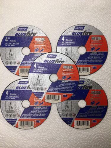 "NORTON CutOff Wheel Blue Fire 4"" x .045"" 5 Pack 5//8"" Arbor"