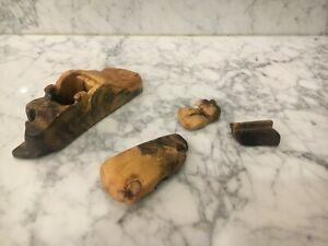 Vintage Buckeye Root Burl Wood Puzzle Box Signed