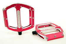"Spank Spoon Large 110mm Race/Freeride/Trail/Mountain Bike 9/16"" Pedals, Red"