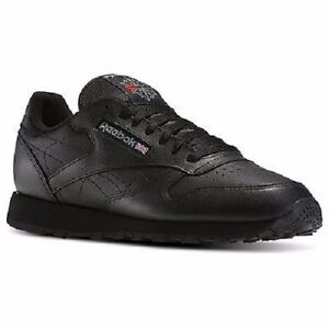 812659d6d52e Image is loading REEBOK-CLASSIC-LEATHER-BLACK-116-MENS-SHOES