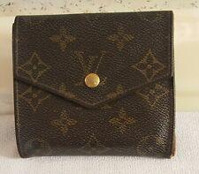 Louis Vuitton Monogram Bifold Wallet Brown M61660 Porto Monnaie
