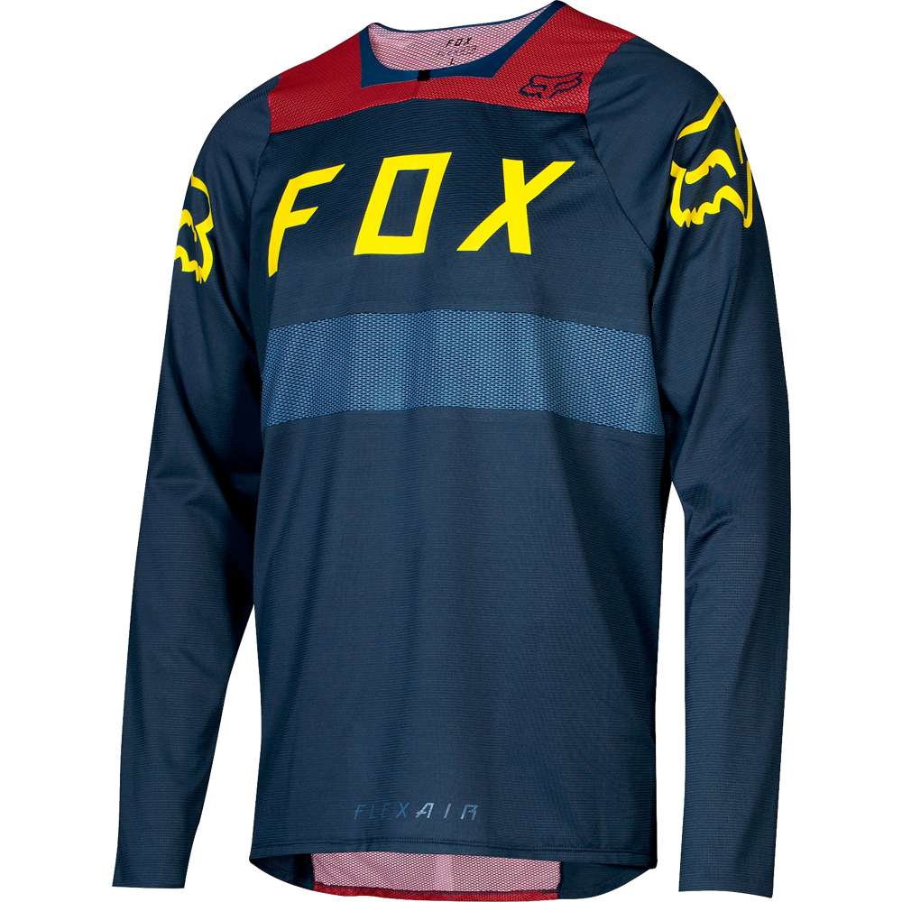 Fox Racing 2018 Flexair à hommeches longues L S Jersey Midnight