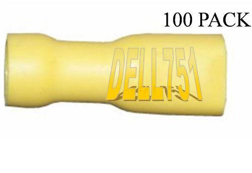 """YELLOW female spade crimp terminal 6.35mm 1//4/"""" pack//100"""