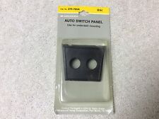 Auto Switch Panel Dash Mount Two Toggle Switch Plastic Black #275-705A