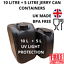 1 x 5 1 x 10 litre plastic bottle jerry can water container compact black