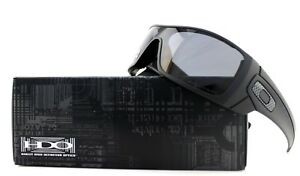 Image is loading POLARIZED-NEW-Authentic-OAKLEY-BATWOLF-Matte-Black-Grey- 11bba079ed
