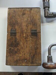 Vintage-12-Piece-Auger-Bit-Set-With-Wood-Case-sizes-4-15-Hand-Drill-Bit-Brace