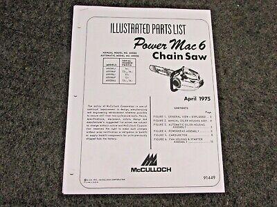Free mcculloch chainsaw power mac 6 manual user