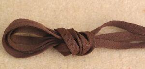 LACES-20-x-Pairs-100-cm-39-034-Long-0-8-cm-Wide-Nylon-Dark-Brown-Sport-Shoe-Laces