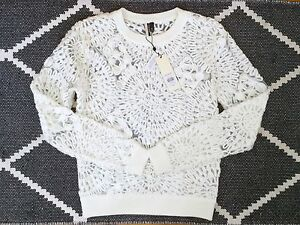 Sheer Bnwt Luxe White 8 Lace Cream 6 Jumper £48 34 Embroidered Topshop qrE5gTwnr