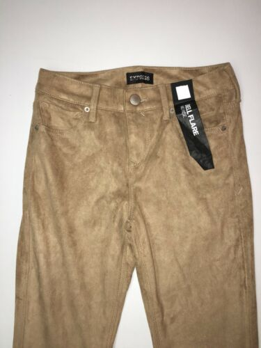 Express Pants Bell Flare Size 2 Reg Mid Rise Faux Suede Camel Inseam 34 NWT $98