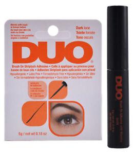 DUO BRUSH ON Striplash Adhesive Eyelash Glue / BLACK DARK ...