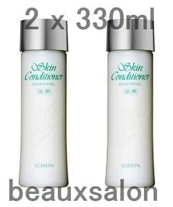 LOT2-ALBION-SKIN-CONDITIONER-ESSENTIAL-330ml-x-2-Medicated-lotion-New-in-box