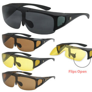 940b9a42279 Image is loading Barricade-Large-Oversize-Mens-Polarized-Flip-Up-Fitover-