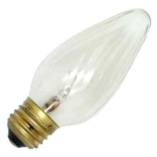Shat-R-Shield #01809 shatterproof Clear Flame Shape bulb 60 Watt 120 Volt