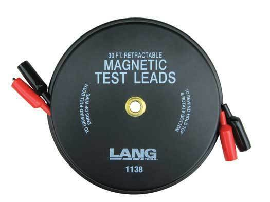 Lang Tools 1138 Magnetic Retractable Test Lead Made From 18 Gauge Wire New USA