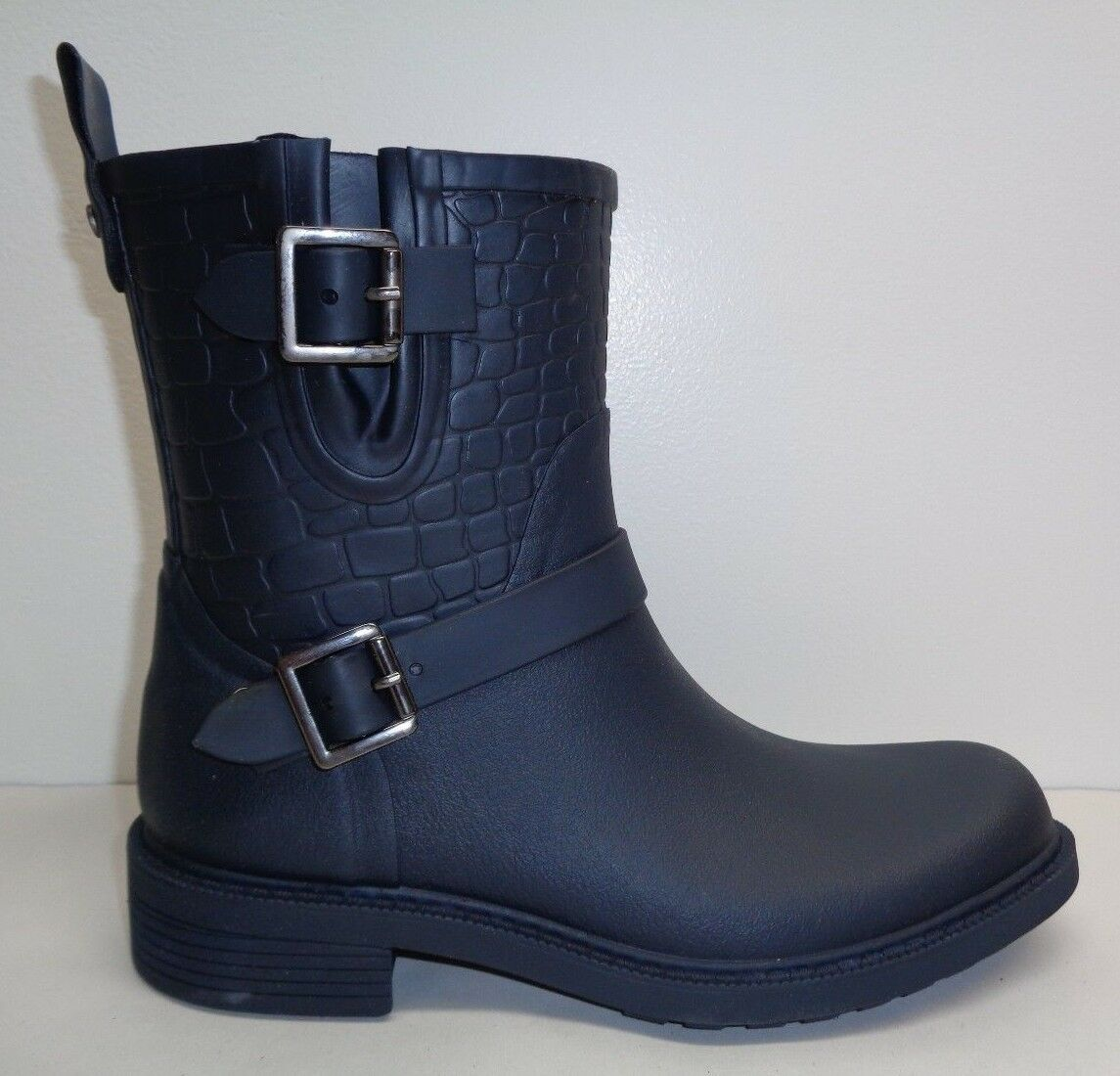 Sam Edelman Size 9 M KEIGAN Navy Rubber Rain Ankle Boots New Womens Shoes
