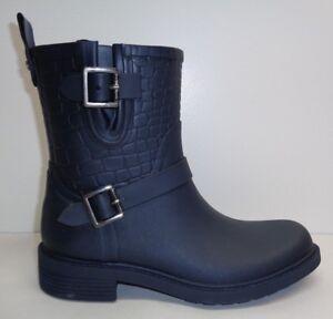 45f0079baf400 Sam Edelman Size 6 M KEIGAN Navy Rubber Rain Ankle Boots New Womens ...