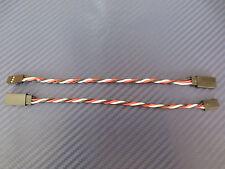 2 Stück Servoverlängerung verdrillt f. Futaba  15cm 3x0,34mm² Servo kabel