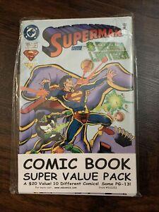 Comic Book Super Value Pack - 10 Different Comics - Unopened