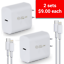 miniature 1 - Fast PD Charger 20W USB-C Power Adapter + Cable For iPhone 12 Pro Max, 2 Units!!