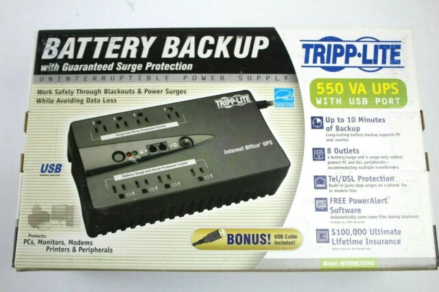 Tripp Lite Internet Office UPS Battery Backup 550VA//300 Watt