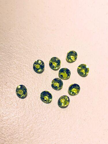 edelsteine24  Echter Peridot Edelstein rund fac 4,9mm Naturfarbe PR-1