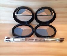 2 Laura Geller Baked Eye Pie Shadow Trio BLUEBERRY MUFFIN with Free BRUSH New!