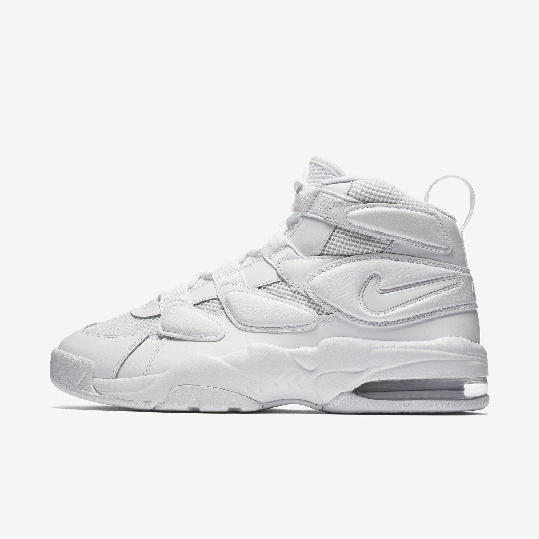 Max 2 Uptempo'94 Nike Air Para Hombres Zapatos De Triple Baloncesto-Blanco Triple De 922934-100 868988