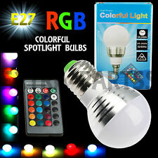 3W E27 16 Color LED RGB Magic Spot Light Bulb Lamp with Wireless Remote Control