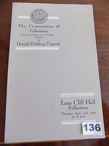 Programme-LEAS-CLIFF-HALL-FOLKSTONE-Concert-PETER-DAWSON-Harold-Fielding-1947