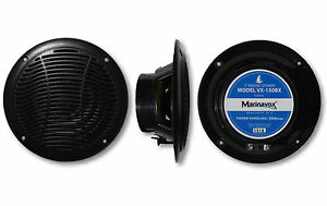 5-034-Full-Range-Marine-Audio-Speaker-VX-150BX-BLACK-Boat-Spa-Hot-Tub-RV-PAIR-NEW