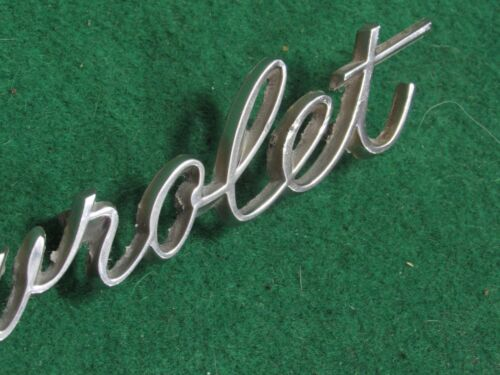 CHEVROLET Bolt On Header or Trunk Emblem 1960 s ERA 8 3//4 INCH