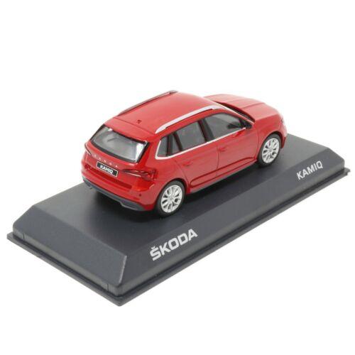 Skoda Kamiq 1:43 Modellauto Velvet Red 658099300 F3P Minatur Modell Rot