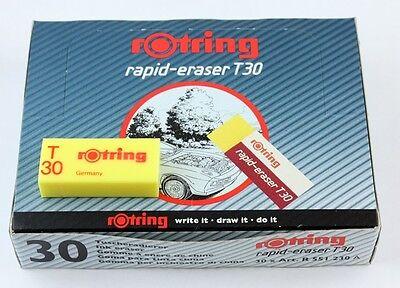 Rotring Rapid Eraser T30 - Drawing Ink Eraser - Bulk Pack 30
