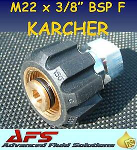 "Blue Pressure Washer Hose Karcher 3//8/"" BSP Male Female M22 330 Bar Jet 2 Wire"